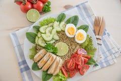 Здоровый салат шара квиноа Стоковая Фотография RF