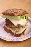 Здоровый свежий бургер Стоковое Изображение