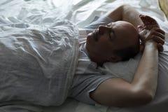 Здоровый сон на ноче Стоковые Изображения