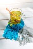 Здоровый чай на холодные вечеры Стоковое Изображение RF