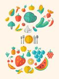 Здоровый шаблон Infographic еды Стоковые Фотографии RF