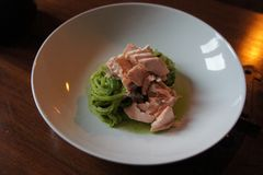 Здоровый salmon обедающий Стоковые Изображения RF