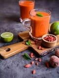 Здоровый smoothie с lychee, goji и известкой Стоковая Фотография RF