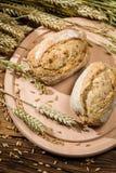 2 здоровых плюшки испеченной от свежего зерна Стоковая Фотография