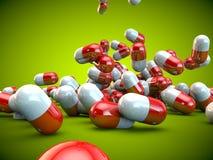 Здоровье болезни медицины капсул пилюлек пилюльки иллюстрация штока