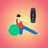 Здоровье браслета фитнеса Стоковые Изображения