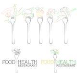 здоровье еды Иллюстрация вектора