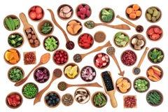 Здоровье и супер образец еды Стоковое Изображение