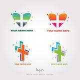 Здоровье, медицинские, sanitay логотипы, векториальный файл Стоковая Фотография RF