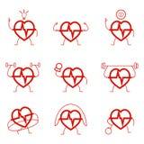 Здоровье силы сердца установленное cardio бесплатная иллюстрация