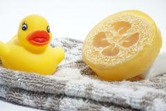 здоровье чистоты предпосылки изолировало белизну полотенца мыла pledge Стоковые Изображения
