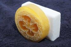 здоровье чистоты предпосылки изолировало белизну полотенца мыла pledge Стоковая Фотография