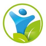 Здоровье элемента логотипа, человек, здоровый образ жизни Стоковое Изображение