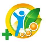 Здоровье элемента логотипа, человек, здоровый образ жизни Стоковые Изображения