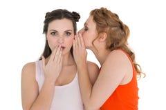 Злословить 2 молодой женский друзей Стоковые Фотографии RF