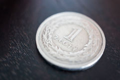злотый монетки польский Стоковое фото RF