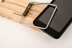 Злоупотребление телефона Стоковое Изображение