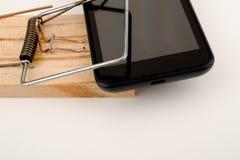 Злоупотребление телефона Стоковая Фотография RF