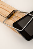 Злоупотребление телефона Стоковые Фото