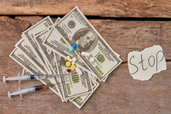 Злоупотребление Narcoticcs и наркоторговля Стоковые Фото