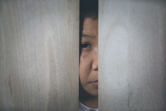 злоупотреблянный ребенок Стоковое Фото