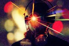 Злодеяние виртуального пространства, предпосылка хакера Стоковые Изображения RF