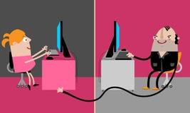 Злодеяние кибер Стоковое Изображение