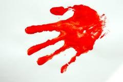 Злодеяние убийство Отпечаток руки стоковые фотографии rf