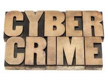 Злодеяние Cyber в деревянном типе Стоковые Фотографии RF
