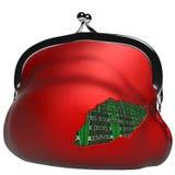 Злодеяния в поле электронных оплат Стоковое Изображение RF