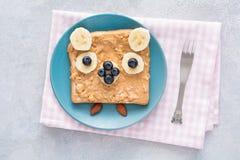 Здравица арахисового масла для детей Стоковое Изображение RF