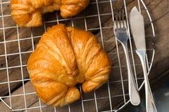 Здравица круассана французская вкусная Стоковые Изображения RF