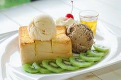 Здравица меда мороженого стоковое фото