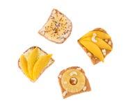 Здравица с плодоовощ ананаса для еды завтрака Стоковая Фотография
