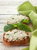 Здравицы с мягким сыром стоковое изображение