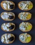 Здравицы с плодоовощами и сыром Стоковое Изображение RF