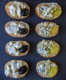 Здравицы с плодоовощами и сыром Стоковое Фото
