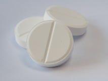 Здравоохранение медицины аспирина пилюльки белые и рецепт медицины Стоковое Изображение