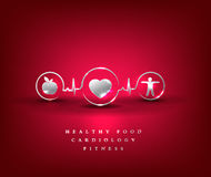 Здравоохранение сердца, символ здоровья Стоковое Изображение RF