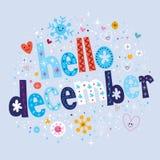 Здравствуйте! декабрь иллюстрация штока