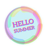 Здравствуйте! лето, сообщение иллюстрации вектора для вашего дизайна лета Стоковые Фотографии RF