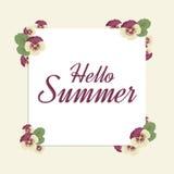 Здравствуйте! лето Стоковое Изображение