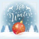 Здравствуйте! зима иллюстрация вектора