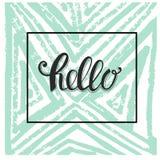 Здравствуйте! дизайн карточки Стоковые Изображения RF