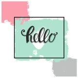 Здравствуйте! дизайн карточки Стоковое фото RF