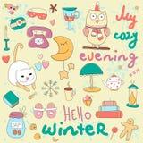 Здравствуйте! иллюстрация зимы Стоковое Изображение
