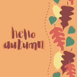 Здравствуйте! карточка осени Стоковые Фото