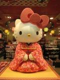 Здравствуйте! киска в платье кимоно Стоковое Изображение