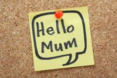 Здравствуйте! мама стоковая фотография rf