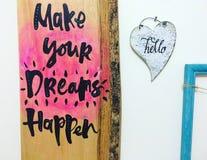 Здравствуйте! мечты Стоковые Фото